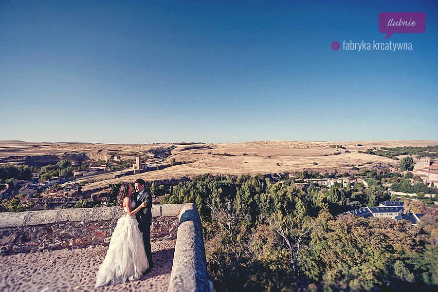 zagraniczna sesja ślubna