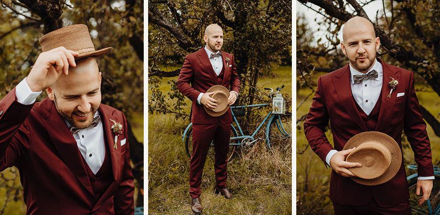 ślub w plenerze i portrety pana młodego