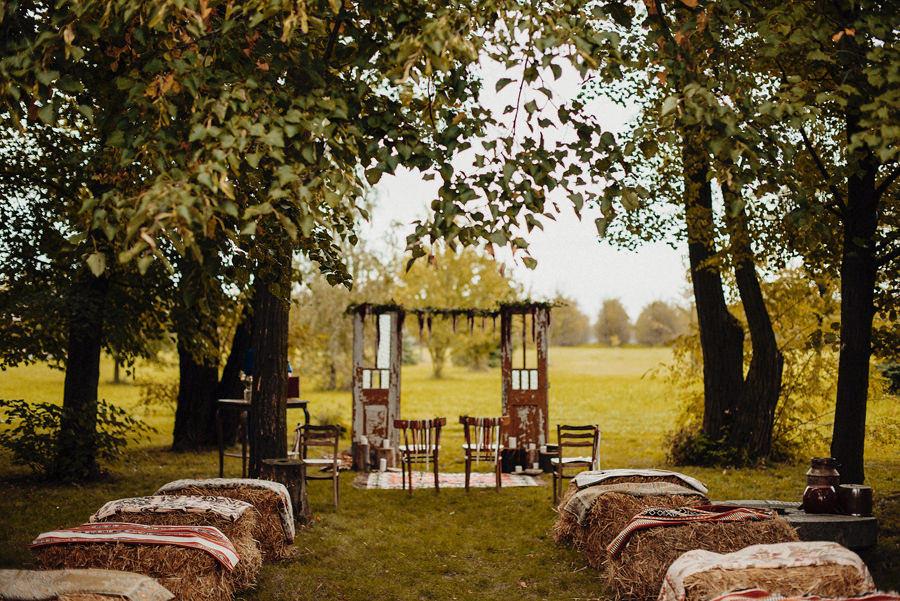 rustykalny ślub plenerowy pod Warszawą