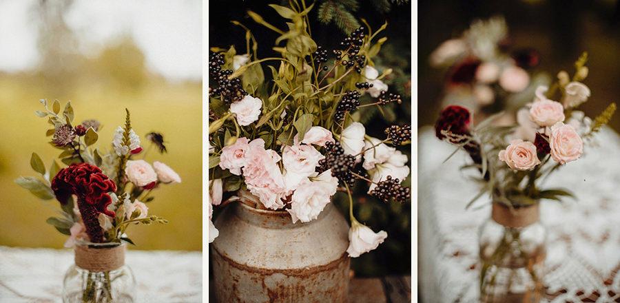 ślub plenerowy - detale, kwiaty, dekoracje
